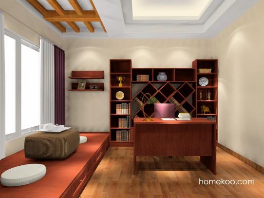 新中式主义书房家具C16524