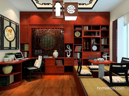 新中式主义书房家具C23157